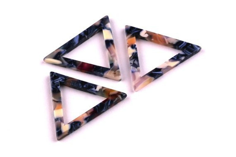 Triangle Statement Acrylic Earring Findings Statement Tortoise Shell Charms Blanks Pendants Geometric Shapes Resin Beads Diy Jewelry Making