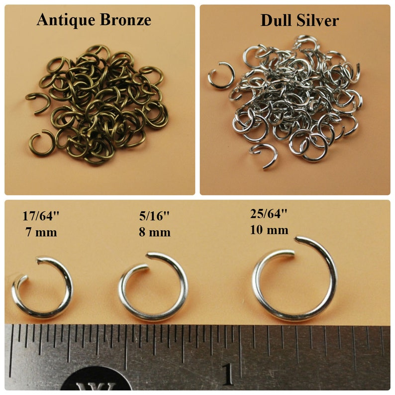 Sizes 20, 21 GA, 4 mm Wholesale Rose Gold Open Jump Rings Bulk Lots