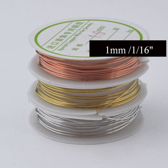 24gauge brass wire Craft wire,gold wire,Jewelry Making Supplies Copper Wire,1 Roll 5m Beading Cord Findings DIY Artistic Craft Wire