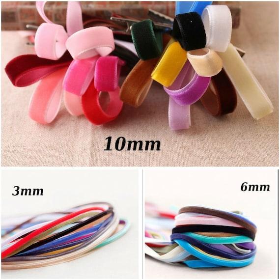 "New 5 yards 3//8/""10mm Light brown Velvet Ribbon Headband Clips Bow Craft supplies"