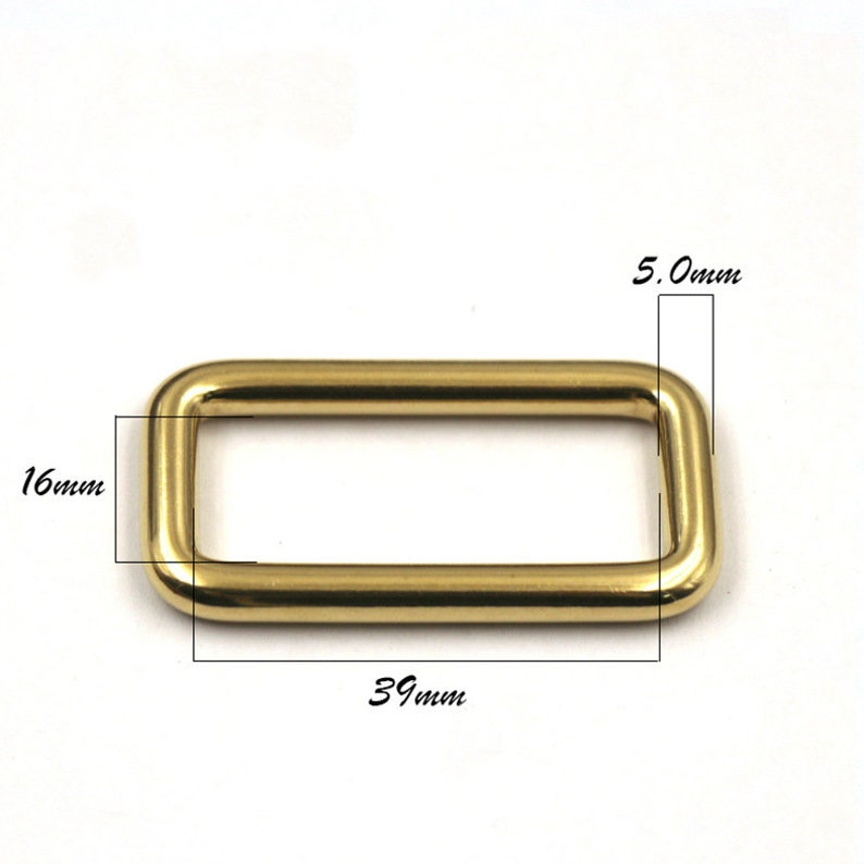 Solid Brass Cast Rectangle Ring 20-39mm Welded Metal Heavy Duty Webbing Buckle Leather Strap Bag Purse Dog Collar Belt Buckles Strapping
