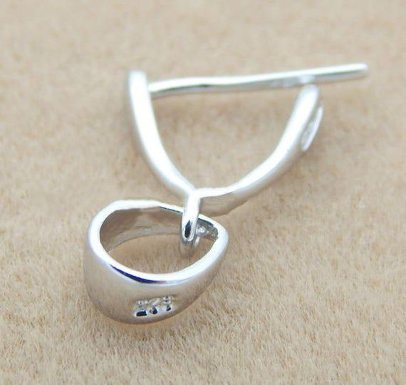 Lot Bulk 925 Silver Findings Earrings Hook Clasp Pinch Bail Ear Wire DIY Jewelry