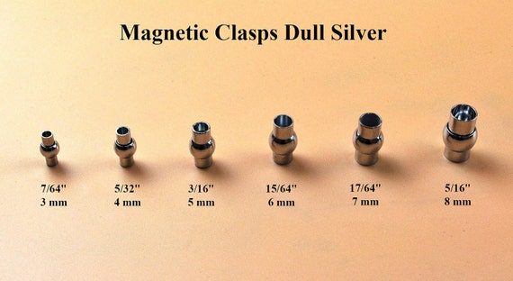 5 Sets Rhinesone Clasp Magnetic End caps for bracelet 4mm Glue /& Go  SALE!