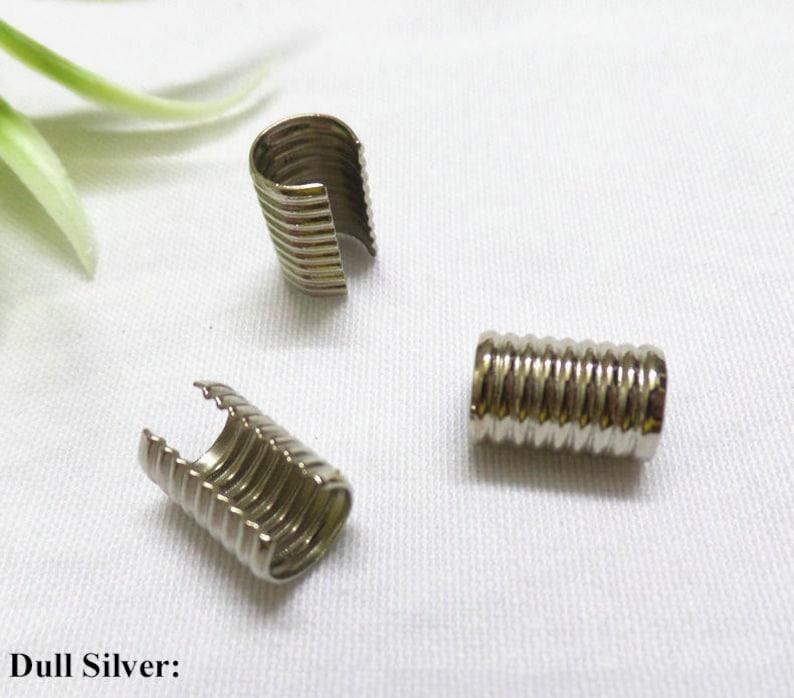 5 conjuntos de Bronce Tono casquillos de extremo para 5mm-Cable de 5.5mm Lobster Clasps /& extender UK