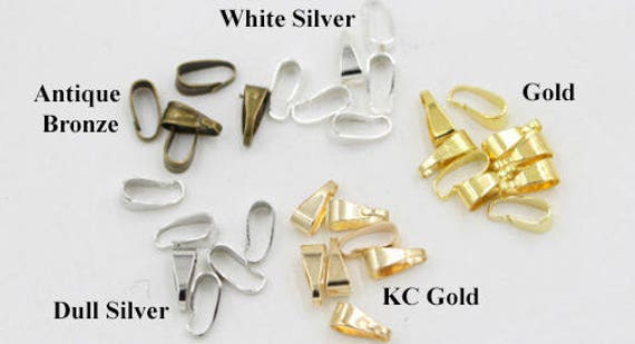 50pcs Clasp Necklace Bails Connector Toggle Fan-shaped Hair Pins Connector