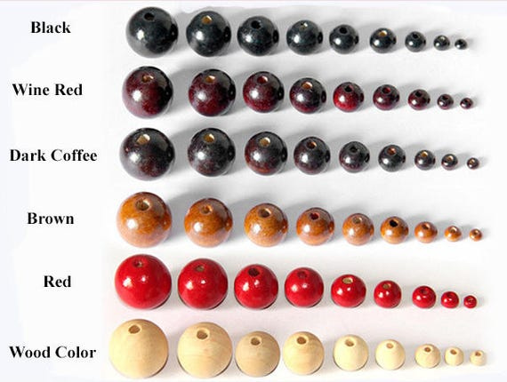 12//14//20mm Round Ball Natural Color Wood Beads Wooden Spacer Bead·