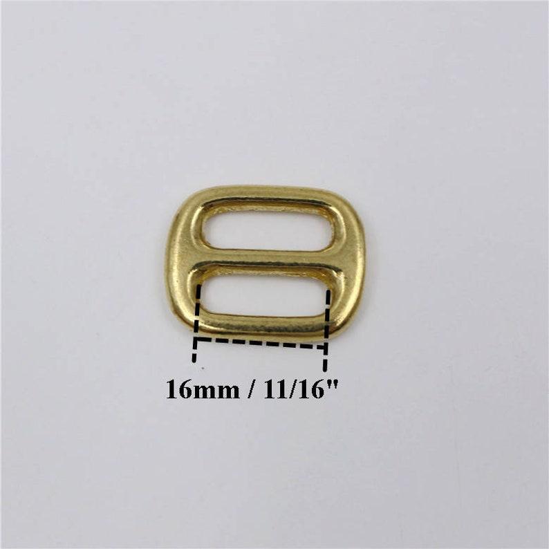 Solid Brass Ring Slider Buckle Triglide Adjuster Slide Tri Glide Adjustable Rectangle Loop Belt Purse Leather Strap 13 16 20 25 32 38 50mm