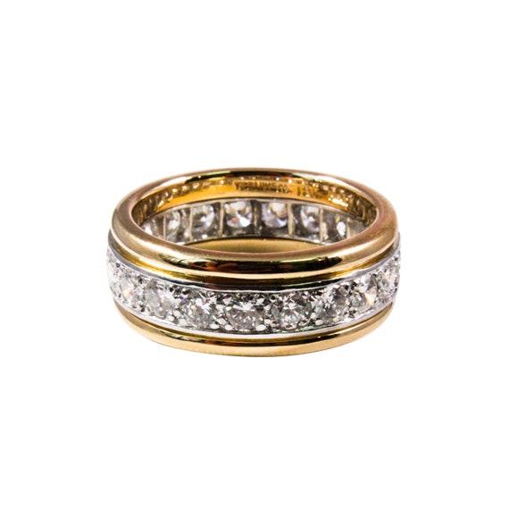 0b4ce5028 Tiffany & Co. 18k Yellow Gold and Platinum Diamond Band   Etsy