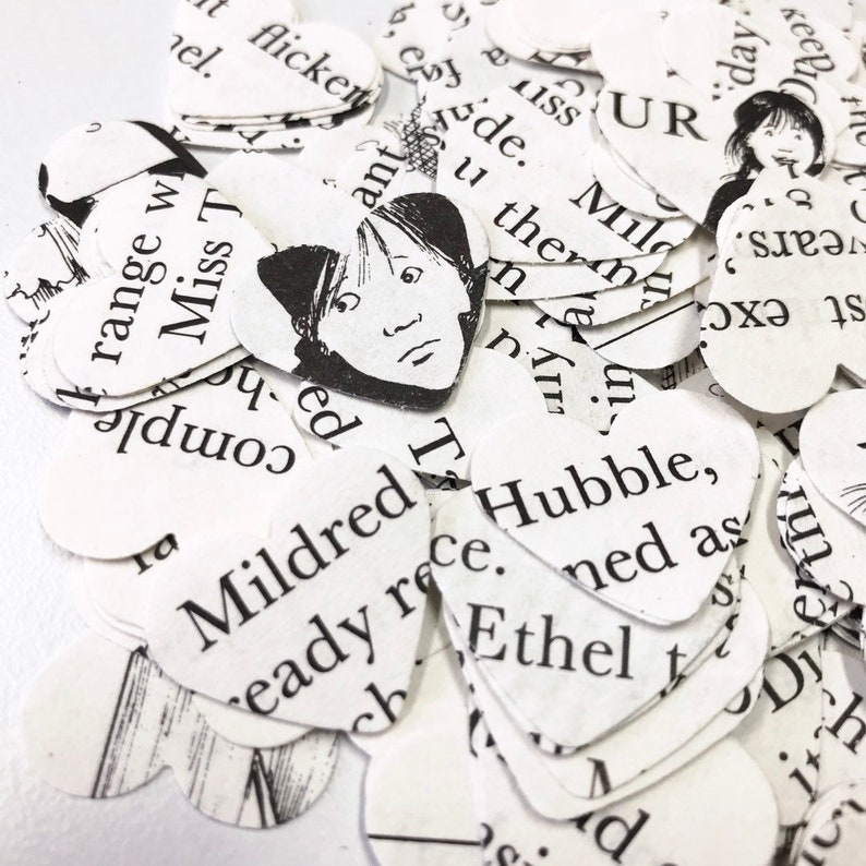 card making party wedding table top confetti smashbooks 250 worst witch confetti hearts
