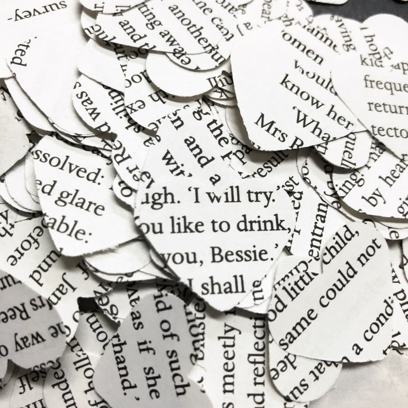 smashbooks Charlotte Bronte wedding card making 500 Jane Eyre  confetti hearts party
