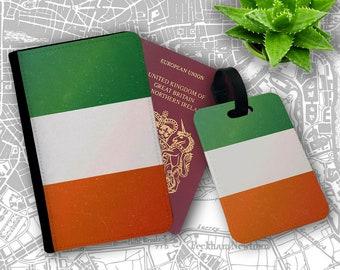 4c2f4f61945e1 Irland Flagge Retro Original Dublin Europa Tourist Pass-Inhaber Flip  Cover Case und Gepäckanhänger