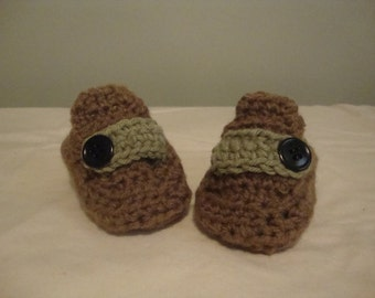 Baby booties, baby loafers, baby moccasin, brown baby booties, brown baby loafers, brown baby moccasins, brown booties, brown loafers