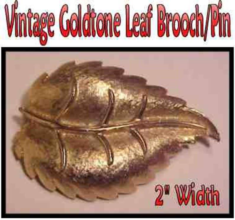 Vintage Leaf Brooches * LOT 10 Brooch Destash Jewelry Destash Destash LOT OF 3 Brooches for Crafts Assemblage