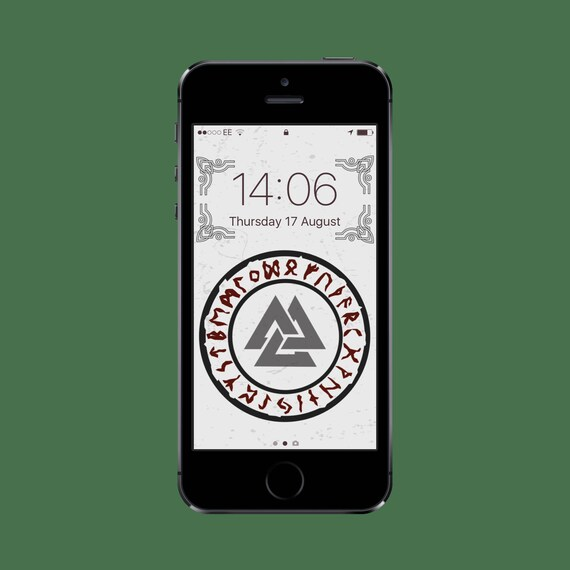 Valknut Rune Protection Viking Iphone Wallpaper Iphone Etsy