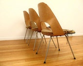 very early ,set of 3,knoll,Saarinen executive chairs, from Keck and Keck -Fagen McMahon house-Chicago