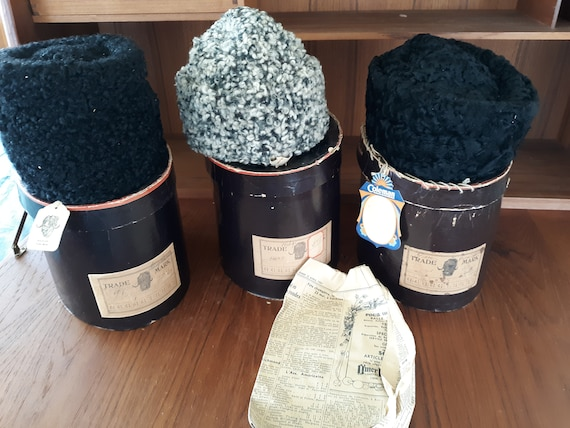Vintage,NOS,1930's hats,lambs wool
