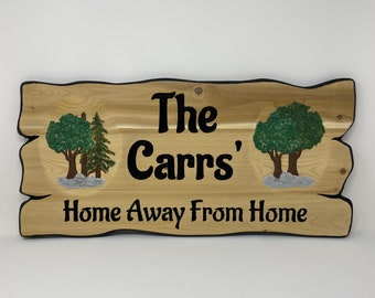Maple Tree Forest Family Name Sign - Rustic Decor - Personalized Sign - Wood Wall Art - Outdoor Wall Art - Custom Wood Signs