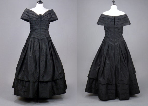 Vintage 1980s Arnold Scaasi Evening Dress, 80s De… - image 2