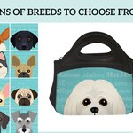 Adorable Dog Breed Specific Lunch Bag!