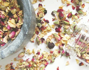 Floral Bath Tea for Stress Relief and Relaxation - Rose Bath Soak