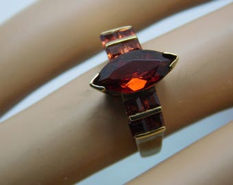 10K Almandine Garnet Ladies Ring
