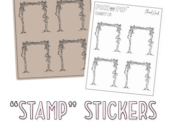"""Floral Arch - """"Stamp"""" Stickers"""