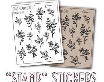 "Daisies - ""Stamp"" Stickers"