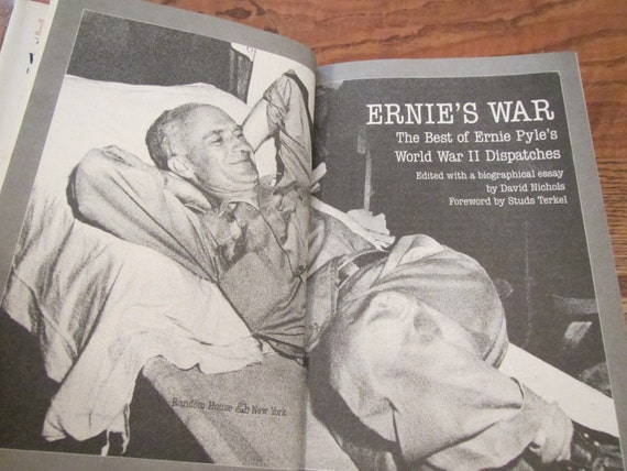 1986 Ernies War The Best Of Ernie Pyles World Etsy