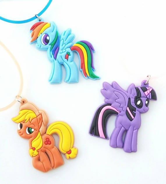 My Little Pony Charm Necklaces Little Girls Necklace | Etsy
