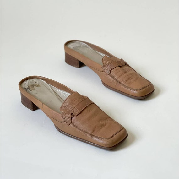 90s Vintage Via Spiga Leather Mules Minimal Retro - image 1