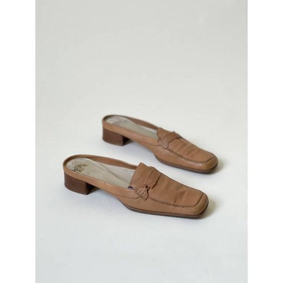 90s Vintage Via Spiga Leather Mules Minimal Retro - image 2