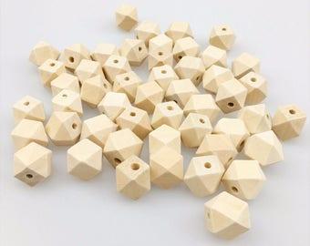 5 blank 16 mm 100% natural geometric octagonal beads