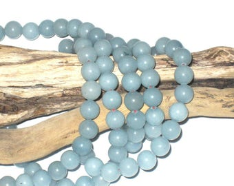 Blue 8 mm aventurine beads