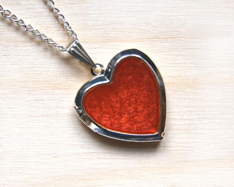 Crimson locket, photo locket, picture medallion, picture locket, red  medallion, locket red heart, medallion heart, red locket