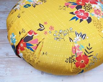 PDF Zafu floor cushion pattern (A4 & US letter size print options)