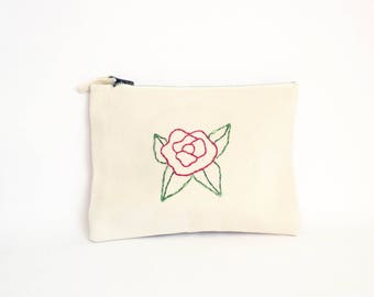 Pink pouch, cotton pouch