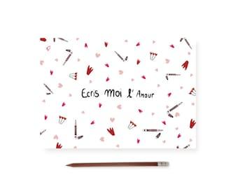 "Postcard ""Write me love"""