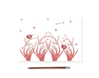 Fish and coral card