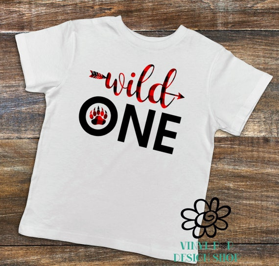 Wild One Birthday Shirt Bear Boys 1st