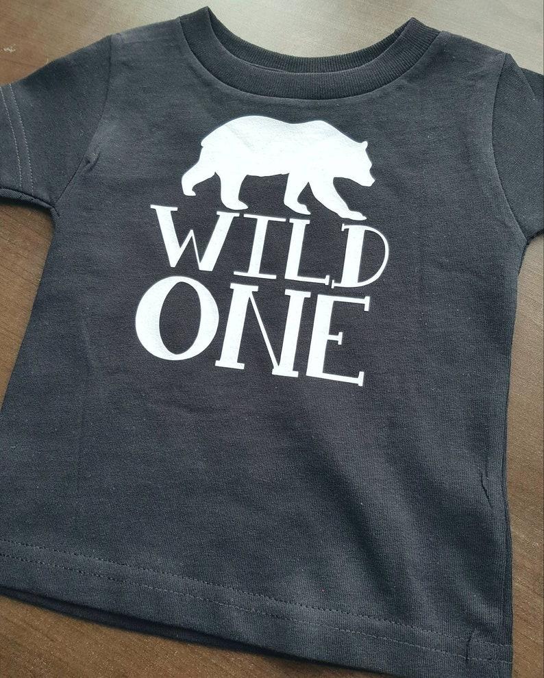 Wild One Birthday Child Shirt Boys 1st