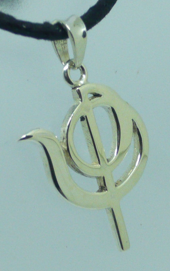 Psychology Pendant In Sterling Silver Symbol Psychology Silver Etsy