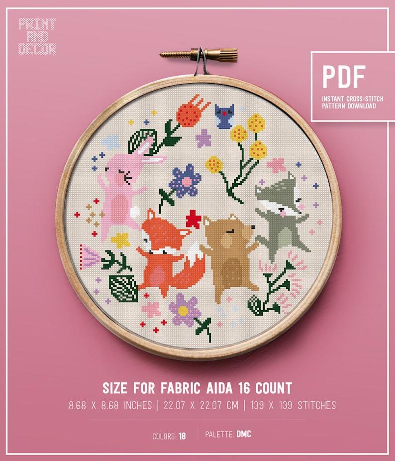 Dog Gone Funny Chart Counted Cross Stitch Patterns Needlework DIY 14 ct Aida