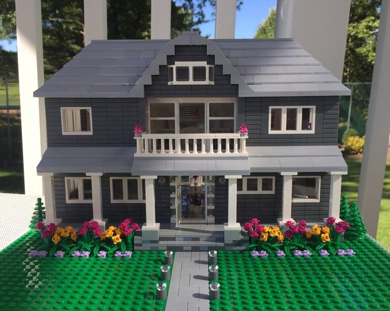 Custom Lego Model Home Interior Exterior Detail Etsy