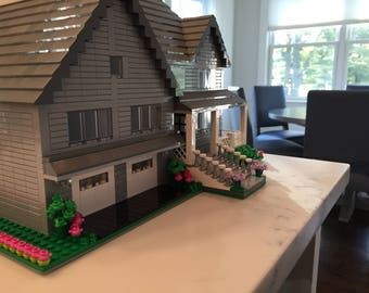 Custom Lego Model Home - Exterior Detail