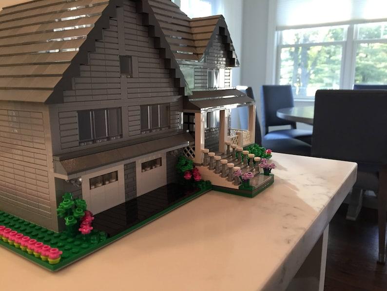 Custom Lego Model Home Exterior Detail Etsy