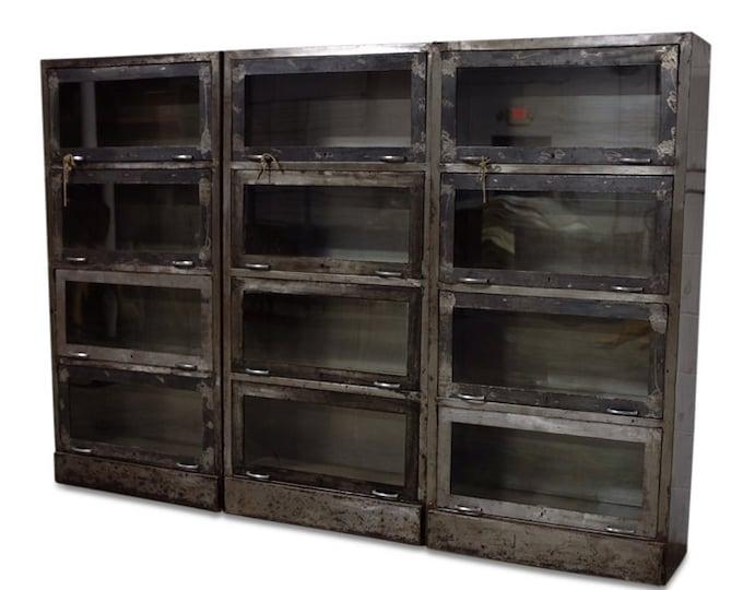 Metal Storage with Glass Doors