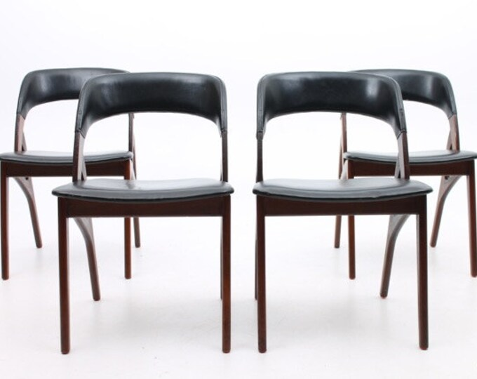 Danish Mid-Century Modern Rosewood Dining Chairs (set of 4)
