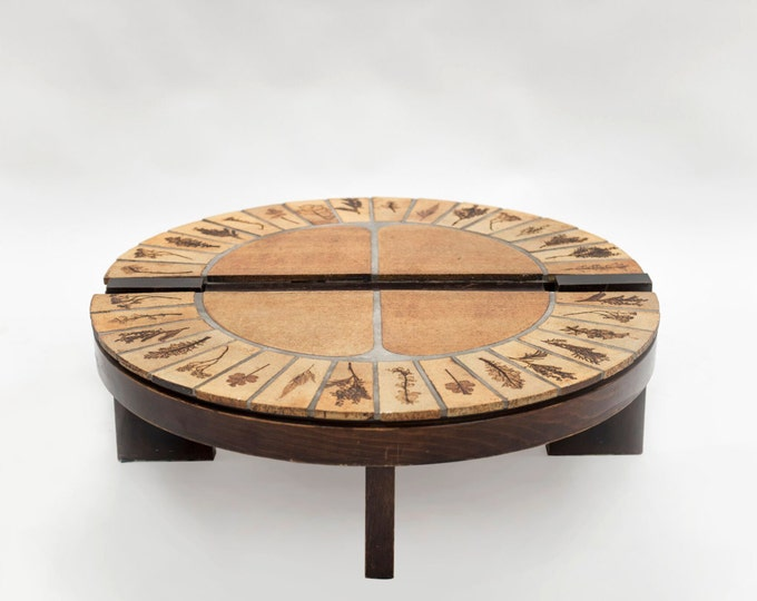 Roger Capron Round Coffee Table - Signed