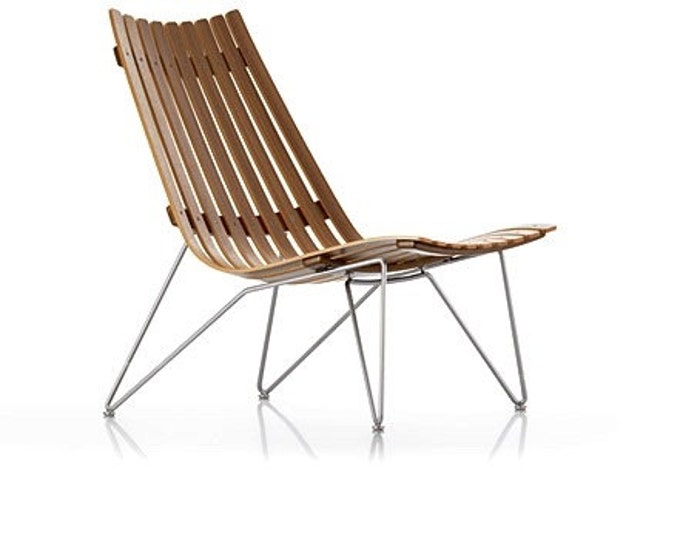 Scandia Nett Lounge Chair Walnut