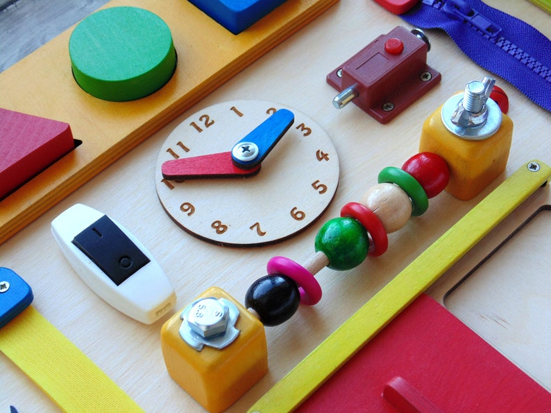 Baby Activity board Busy board for 1 year old Personalized 1 year old gift for baby boy Montessori baby toy Custom Busy Board baby